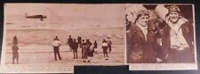 1929 Signed Twice Lewis A. Yancey Newspaper Clipping Maine to Rome Flight 472