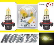 Nokya 2500K Yellow 9008 H13 Nok7627 60/55W Head Light Bulb Dual Beam Replacement