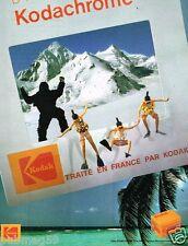 Publicité advertising 1985 Films Photo Pellicules Diapositives Kodak