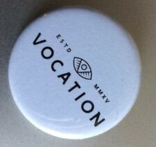 Vocation Brewery promotional pin badge, white, new
