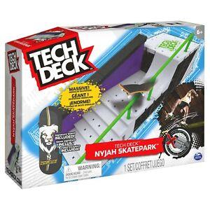 Tech Deck Nyjah Huston skatepark FREE J&J'S STICKER + BADGE