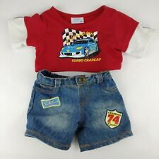 VTG Build A Bear Shirt & Distressed Jeans Champion Street Racer Turbo  Charged
