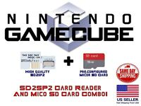 Nintendo GameCube SD2SP2 16 GB MICRO SD Card Adapter Game Cube Serial Port 2