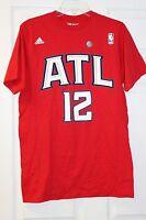"Adidas The Go-To Tee ""B"" Grade Atlanta Hawks #12 Red T-Shirt"