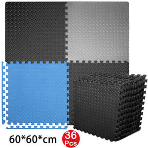 36Pcs Extra Thick EVA Soft Foam Mat Gym Flooring Interlocking Yoga Tiles 60X60CM