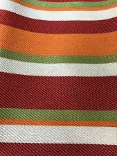 Outdoor Upholstery Waterproof Red Lime Orange Stripe Canvas Fabric 54� x 60�