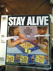 Vintage Milton Bradley Stay Alive board game 1978