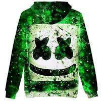 Boys Kids DJ Marshmello Hoodies Sweatshirt Hooded Pullover Casual Coats Sweater