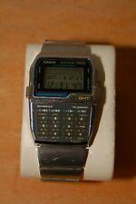 Casio Data Bank 150 DBC-1500 1477 LCD Stainless Chrome Watch Wrist