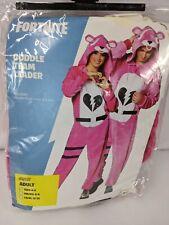 Fortnite Cuddle Team Leader Costume Teen 0-2 Unisex Pink White NEW 1223