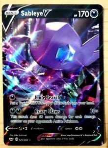 Pokemon: Sword & Shield 'Sableye V' - HOLO - NM - 120/202