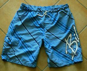Billabong Badeshorts Badehose Boardshort Blau Gestreift Blue Meer Strand - XL