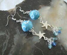 Beach Earrings, pin up nautical boho hippie gypsy bohemian ocean starfish