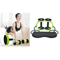 Dual Ab Roller Wheel Slimming Abdominal Muscle Trainer Workout Fitness