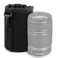 Medium Neoprene Lens Pouch Case for Canon EF-S 55-250mm f/4-5.6 IS II in Black