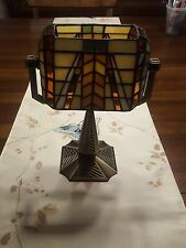 PartyLite Artisan Banker's Lamp Tiffany Style Tealight Candle Holder P7782