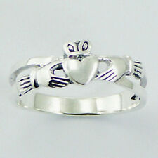Silver Claddagh Ring Sterling Silver 925 Best Deal Plain Jewelry Gift Size 7