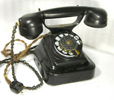 Vintage RETRO BLACK METAL / BACELITE 1930s NKVD USSR Phone KRASNAYA ZARYA