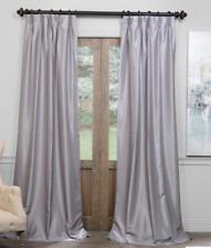 Exclusive Fabrics Furnishing Blackout Vintage Textured Faux Dupioni Curtain Pane
