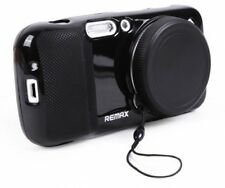 REMAX Protective Soft Black Case W Camera Lens Cover For Samsung Galaxy S4 Zoom