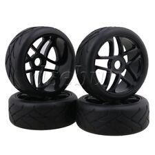 4PCS RC1:8 Off-Road Car Black Flower Type Rubber Tyre &5-Spoke Wheel Rim