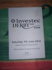 3x Epsom Derby 7th June 2014 Official Horseracing Programmes - good condition
