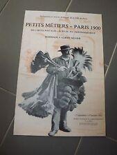 AFFICHE ORIGINALE exposition PETITS MÉTIERS ,PARIS 1900  AF47