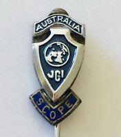 JCI Australia Scope Pin Badge Rare Vintage (H8)