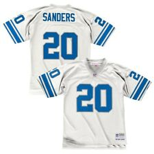 Barry Sanders Detroit Lions White 1996 Mitchell   Ness Throwback Jersey L c1b58c712