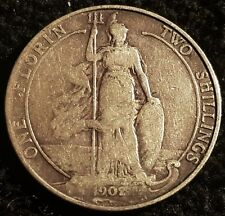1902 Edward VII .925 Silver Florin Coin Lot F3