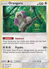 1x Oranguru Sun & Moon Base Set NM/MINT Pokemon Card Instruct Ability 113/149