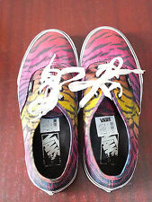 Vans Off The Wall Mens Rainbow Coloured Tiger Print Trainers Shoe Unisex T375