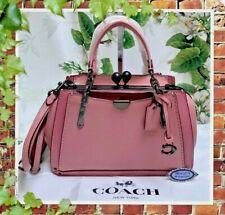 NWT COACH KISSLOCK DREAMER 21 T/H Crossbody Satchel Bag In TRUE PINK Leather