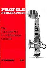 UDET U-12 FLAMINGO VARIANTS: PROFILE PUBS #257/ NEW PRINT AUGMENTED FACSIMILE ED