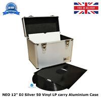 "1 X NEO 12"" DJ Silver Storage for 50 Vinyl LP carry Aluminum Records Case"