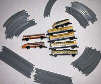 Vintage micro machines train set Galoob Rio Grande 7 Cars Full Track 1989
