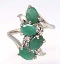 Anillos de joyería verde esmeralda esmeralda