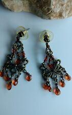 vintage tribal brass chandelier earrings