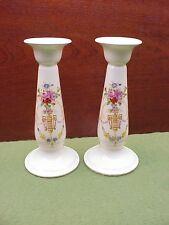 "Pair Crown Ducal DORIC Pattern 6 1/2"" Tall Candlesticks"