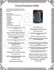 House Protection Bottle Spell  Wicca Pagan Occult Book of Shadows Poster Pg