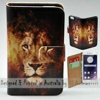 For OPPO Series - Lion Illustration Print Wallet Mobile Phone Case Cover