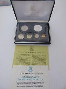 1974 British Virgin Islands Silver Proof Setw/Display Case & COA