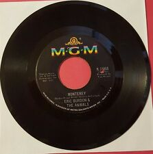 ERIC BURDON & THE ANIMALS / Ain't That So - Monterey / MGM  45rpm Vinyl Record