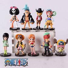 One Piece anime strong world monkey d luffy chopper figure doll set 9pcs/set
