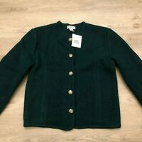 Talbots Womens Green 100 Wool Cardigan Lightweight Sweater Size 6 New