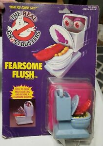 Original Vintage 1986 Real Ghostbusters Fearsome Flush Toilet Ghost Toy MOC New
