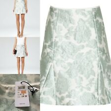 Reiss Mint Green Tulip Jacquard Skirt UK 6 RRP £120 BNWT Fit And Flare