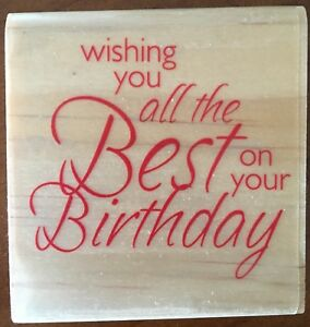 Woodmount Stamp Brand New Wishing You All The Best On Your Birthday 45mm
