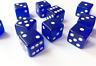 10 X Traslúcido Bordes Afilados Seis Lados Dado 19mm Casino - Color a Elegir