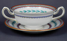 ANTIQUE MINTON CHINA Ashbourne S131 Cream Soup Cup & Saucer Set